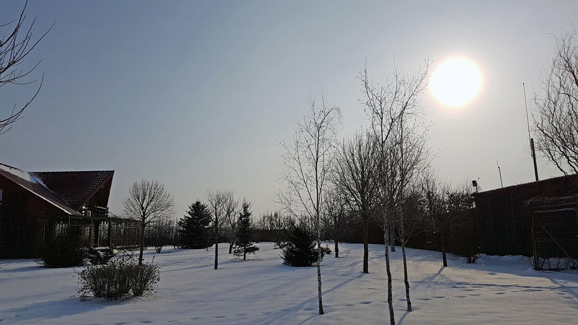 - 15 Grad, knackig kalt bei strahlendem Sonnenschein.